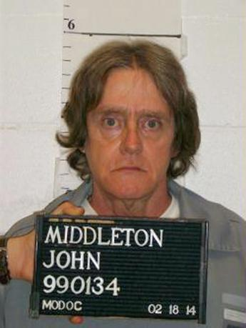 Death row inmate John Middleton, 54, is seen in this handout picture taken February 18, 2014, courtesy of the Missouri Department of Corrections.  REUTERS/Missouri Department of Corrections/Handout via Reuters
