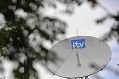 BSkyB, qui a des visées d'expansion en Europe, annoncé jeudi la vente au câblo-opérateur américain Liberty Global d'une participation de 6,4% dans ITV, premier télédiffuseur hertzien britannique, pour 481 millions de livres (609 millions d'euros). /Photo d'archives/REUTERS/Toby Melville
