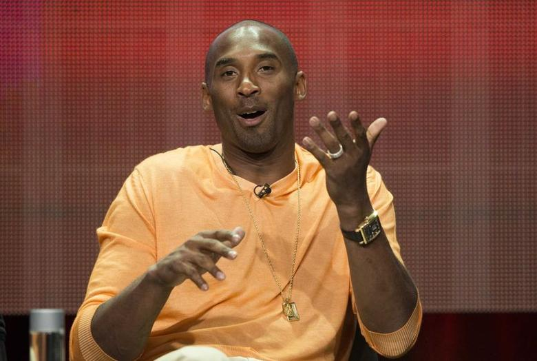 Kobe Bryant of NBA's Los Angeles Lakers speaks at a panel for the Showtime television documentary ''Kobe Bryant's Muse'' during the Television Critics Association Cable Summer Press Tour in Beverly Hills, California July 18, 2014. REUTERS/Mario Anzuoni