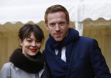 Actors  Helen McCrory and Damian Lewis arrives  at Windsor Castle southern England  April 4, 2013.  REUTERS/Luke MacGregor