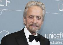 Actor Michael Douglas poses at the UNICEF Ball fundraising gala in Beverly Hills, California in this file photo taken January 14, 2014.   REUTERS/Mario Anzuoni/Files