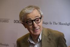 """Director Woody Allen arrives for the premiere of his film """"Magic in the Moonlight"""" in New York July 17, 2014.  REUTERS/Lucas Jackson (UNITED STATES - Tags: ENTERTAINMENT)"""