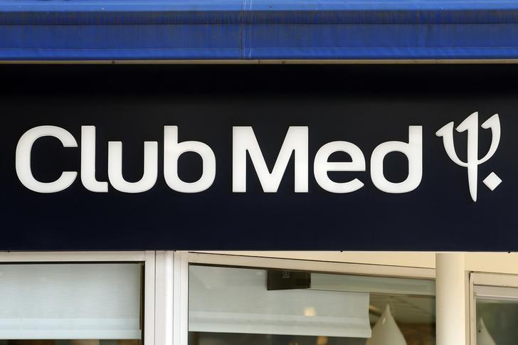 A logo is seen on a Club Med travel agency in Neuilly-sur-Seine, July 24, 2014.  REUTERS/Benoit Tessier