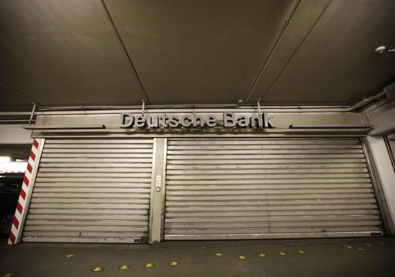 A closed branch of Deutsche Bank is pictured in a parking a parking garage in Bochum May 17, 2013. REUTERS/Ina Fassbender