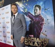"Cast member Chris Pratt poses at the premiere of ""Guardians of the Galaxy"" in Hollywood, California in this file photo taken July 21, 2014.   REUTERS/Mario Anzuoni/Files"