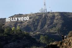 A view of the Hollywood sign from Bronson Canyon park in Hollywood, California February 21, 2014. REUTERS/Mario Anzuoni