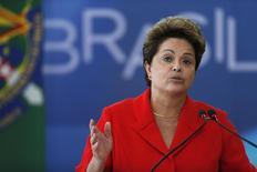 A presidente Dilma Rousseff participa de uma cerimônia no Palácio do Planalto, em Brasília, no mês passado. 31/07/2014 REUTERS/Ueslei Marcelino