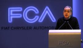 Fiat Chrysler Chief Executive Sergio Marchionne gives opening remarks during the FCA Investors Day at Chrysler World Headquarters in Auburn Hills, Michigan May 6, 2014.  REUTERS/Rebecca Cook