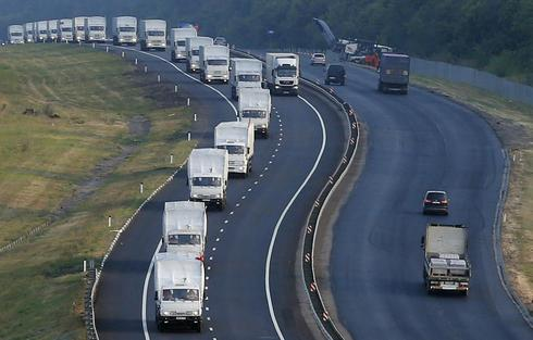 Russian convoy nears Ukraine