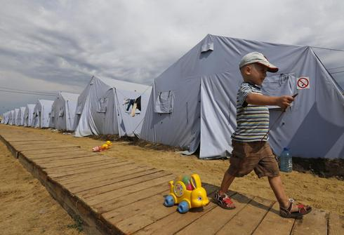 Tent city of Donetsk