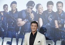 """Sylvester Stallone participa de lançamento de """"Os Mercenários 3"""", em Los Angeles, em 11 de agosto.  REUTERS/Phil McCarten"""