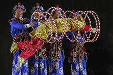 A Peking opera troupe performs at the 49th International Festival of Carthage at the Roman Theatre of Carthage in Tunis July 14, 2013. REUTERS/Anis Mili