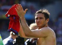 Meia inglês Lampard após partida da Inglaterra contra a Costa Rica na Copa do Mundo de 2014 em Belo Horizonte. 24/06/2014  REUTERS/Damir Sagolj