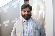 "Cast member Zach Galifianakis poses at the premiere of ""The Hangover Part III"" at the Westwood Village theatre in Los Angeles, California May 20, 2013. The movie opens in the U.S. on May 23.  REUTERS/Mario Anzuoni"
