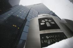 A sign sits outside the head offices of Laurentian Bank in Montreal, March 19, 2013. REUTERS/Christinne Muschi