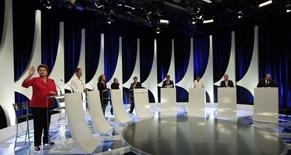 Debate entre candidatos à Presidência em São Paulo nesta segunda-feira.  REUTERS/Paulo Whitaker