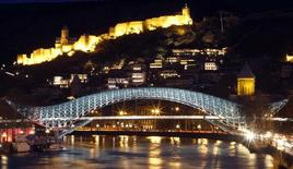 An historical part of Tbilisi is seen before Earth's hour, March 31, 2012. REUTERS/David Mdzinarishvili
