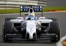 Piloto da Williams Felipe Massa no GP da Bélgica de F1 em Spa-Francorchamps. REUTERS/Yves Herman