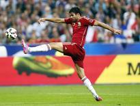 Diego Costa em amistoso da Espanha contra a França na quinta-feira.    REUTERS/Gonzalo Fuentes