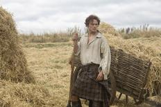 "Actor Sam Heughan, who plays the role of Jamie Fraser in the television show ""Outlander"", is seen in an undated handout photo. REUTERS/Ed Miller/Starz Entertainment/Handout via Reuters"