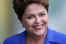 Presidente Dilma Rousseff, candidata à reeleição pelo PT,  durante coletiva de imprensa no Palácio da Alvorada, em Brasília. 10/09/2014 REUTERS/Ueslei Marcelino