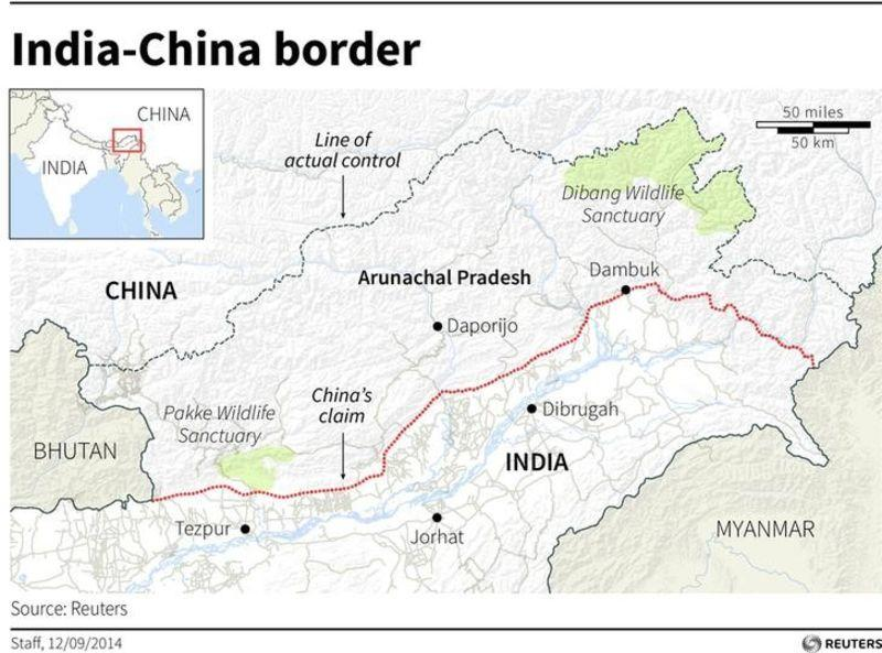 With eye on china india to develop disputed border region map of arunachal pradesh one of the disputed area between china and india gumiabroncs Image collections