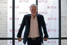 Reed Hastings, fundador e CEO da Netflix, posa para foto durante entrevista com a Reuters em Paris. 15/09/2014 REUTERS/Gonzalo Fuentes