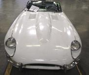 A stolen 1967 Jaguar XKE convertible recovered by the U.S. Customs and Border Protection (CBP) in Los Angeles is seen in an undated handout picture released September 17, 2014.   REUTERS/U.S. Customs and Border Protection/Handout via Reuters