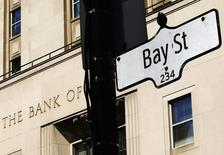 A Bay Street sign, a symbol of Canada's economic markets and where main financial institutions are located, is seen in Toronto, May 1, 2013. REUTERS/Mark Blinch