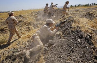 Female fighters of the Peshmerga
