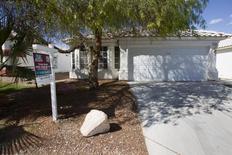 Una casa a la venta en Las Vegas del Norte, Nevada. Imagen de archivo, 02 abril, 2013.  Las ventas de casas usadas de Estados Unidos cayeron inesperadamente en agosto al retirarse los inversores del mercado, pero el declive probablemente no apunte a una renovada debilidad en el sector de la vivienda. REUTER/Steve Marcus