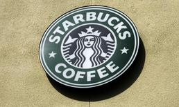The logo of a Starbucks Coffee store is pictured in Boca Raton, Florida January 19, 2010. REUTERS/Joe Skipper