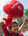 Presidente Dilma Rousseff em São José dos Campos (SP), em 3 de outubro de 2014. REUTERS/Roosevelt Cassio