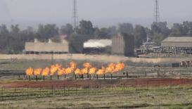 Baba-Gargur oilfield is seen in Kirkuk, 250 km (155 miles) north of Baghdad February 20, 2014. REUTERS/Ako Rasheed  (IRAQ - Tags: ENERGY) - RTX199Q7