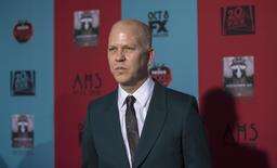 """Co-creator and executive producer Ryan Murphy poses at the premiere of """"American Horror Story: Freak Show"""" in Hollywood, California October 5, 2014.  REUTERS/Mario Anzuoni"""