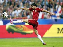 Atacante da Espanha Diego Costa em amistoso contra a França em Saint-Denis, perto de Paris. 04/09/2014 REUTERS/Gonzalo Fuentes