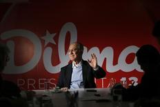 Presidente do PT, Rui Falcão, em entrevista em Brasília.  29/7/2014 REUTERS/Ueslei Marcelino