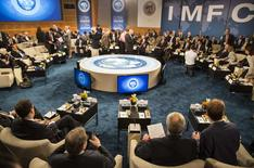 A general view shows the International Monetary and Financial Committee (IMFC) before their meeting at the World Bank/IMF annual meetings in Washington October 11, 2014. REUTERS/Joshua Roberts
