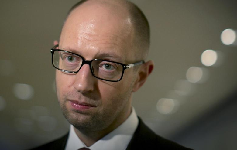 Ukrainian Prime Minister Arseny Yatseniuk gives an interview on the sidelines of the 69th United Nations General Assembly at U.N. headquarters in New York, September 25, 2014. REUTERS/Brendan McDermid