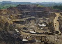 Imagen de archivo de la excavación de la mina Tenke Fungurume de Freeport McMorRan en Lubumbashi, República Demócratica del Congo, ene 29 2013. La minera Freeport-McMoRan reportó una caída de casi un 33 por ciento en sus ganancias del tercer trimestre debido a que los bajos precios del oro y el cobre más que contrarrestaron un aumento en los volúmenes de ventas de metales.         REUTERS/Jonny Hogg