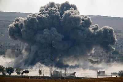 Air strikes on Kobani