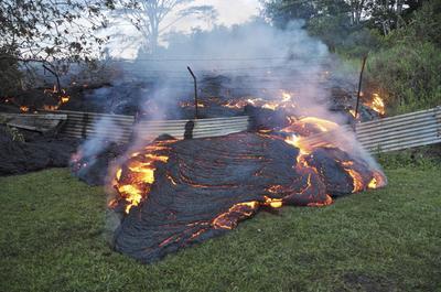 Slow-motion lava