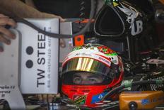 Piloto mexicano da Force India Sergio Pérez durante treino livre do GP dos EUA de F1. 31/10/2014 REUTERS/Adrees Latif