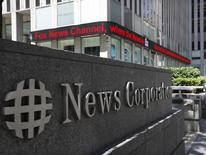 A sign is seen outside News Corporation building in New York, June 27, 2012. REUTERS/Brendan McDermid