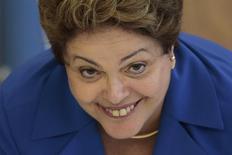 Presidente Dilma Rousseff durante encontro com líderes do PSD no Palácio do Planalto em Brasília. 05/11/2014 REUTERS/Ueslei Marcelino