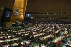 Visão da Assembleia-Geral da ONU, em Nova York, nos Estados Unidos, em setembro. 29/09/2014 REUTERS/Shannon Stapleton