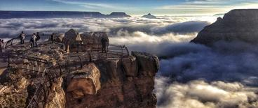 A rare total cloud inversion is pictured at Mather Point on the South Rim of the Grand Canyon National Park in Grand Canyon, Arizona November 29, 2013. REUTERS/NPS photo by Erin Whittaker/Handout