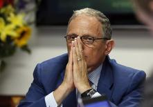 Chairman and President of the Export-Import Bank Fred Hochberg pauses during the second day of the Reuters Aerospace and Defense Summit in Washington, September 10, 2014. REUTERS/Larry Downing