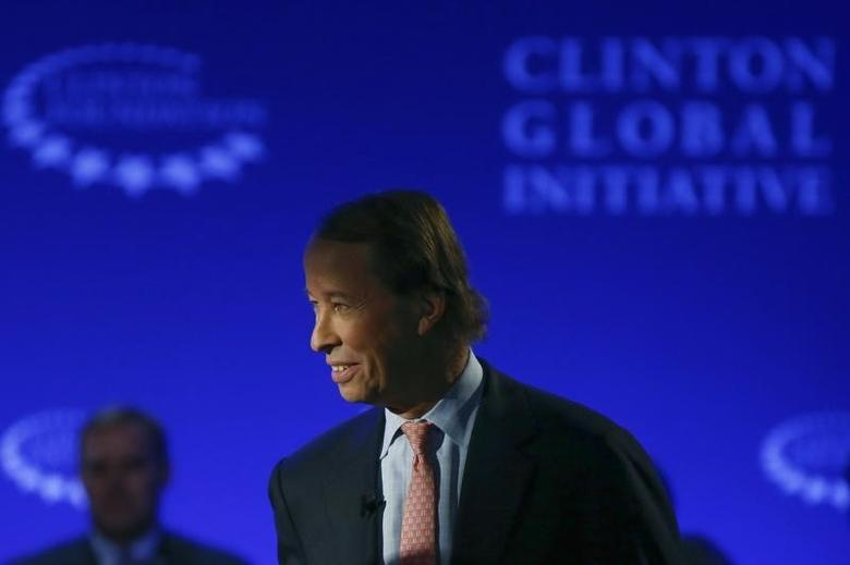 Tony James, president of the Blackstone Group, arrives as a panel member for the breakout session at the Clinton Global Initiative 2014 (CGI) in New York, September 23, 2014. REUTERS/Shannon Stapleton