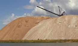 Desechos de la mina de potasa de Belaruskali cerca de Soligorsk, Bielorrusia, ago 31 2013. Las acciones de la empresa rusa Uralkali, el principal productor mundial de potasa, se desplomaron el miércoles por segunda sesión consecutiva, tras un accidente en una de sus minas que podría reducir la oferta mundial de fertilizante y elevar sus precios.  REUTERS/Vasily Fedosenko